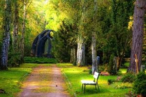 Steine, Friedhof, Wald, Bestattung, Garten, Grabstein, Steine