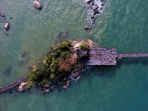 Kabine, Meer, Dock, Meer, Wasser