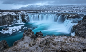 waterfall, tourism, travel, water, waterfall, cascade, island, landscape
