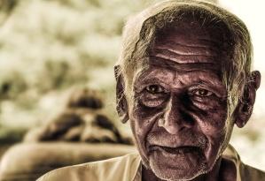 viejo, hombre, persona, retrato, cara