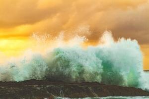 strand, tengerpart, rock, tenger, víz, splash, hullámok