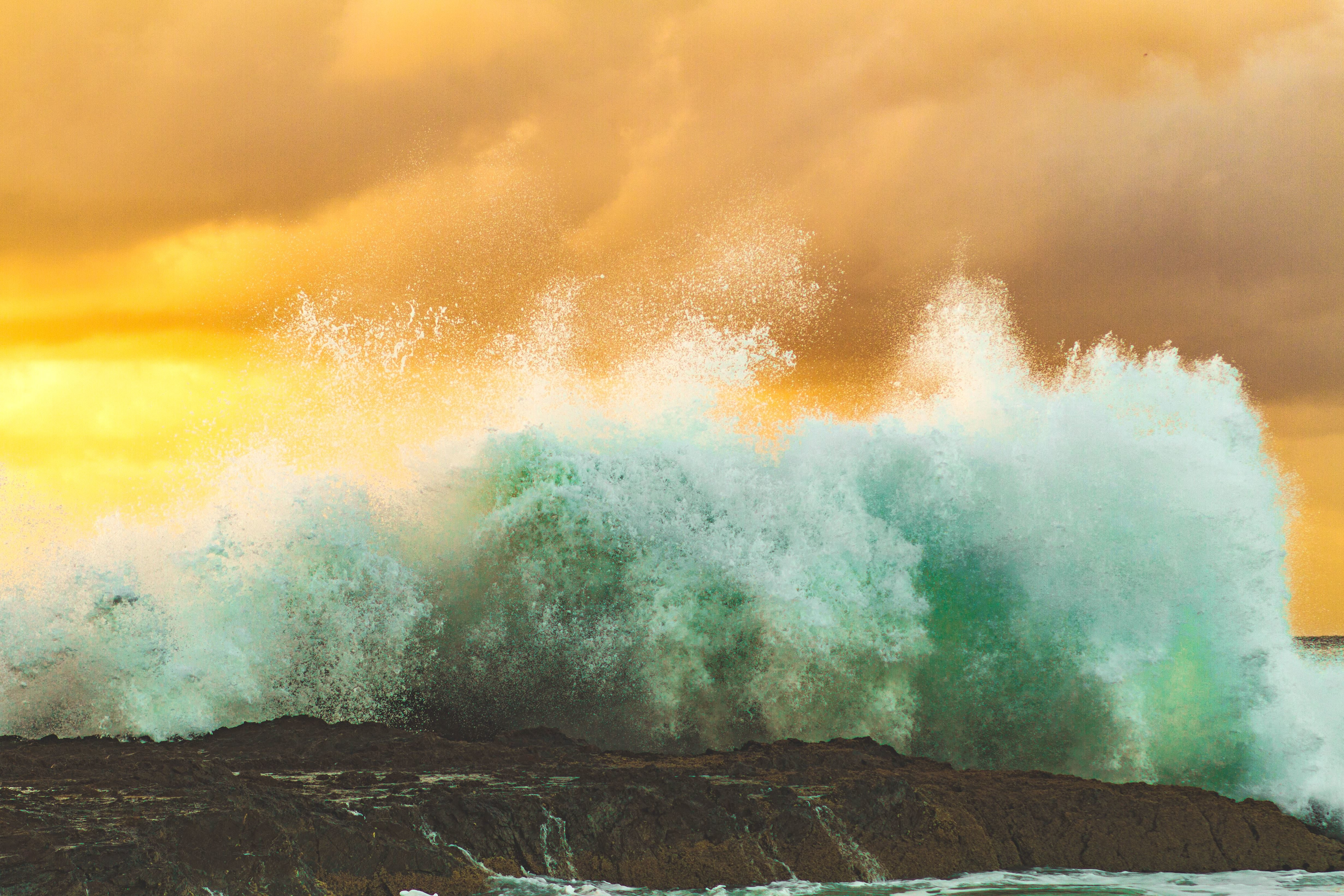 free picture  beach  coast  rock  sea  water  splash  waves