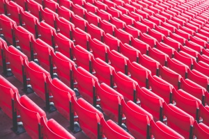 wiersz, siedzenia, stadion, trybuny, krzesło
