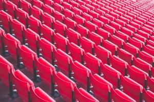row, seat, stadium, bleachers, chair