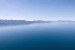 sea, sky, travel, water, beach, fog, mountain