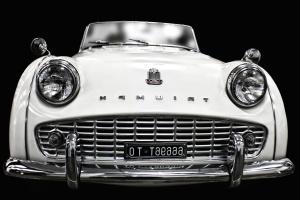 coche, clásico, faros, vehículo, triump