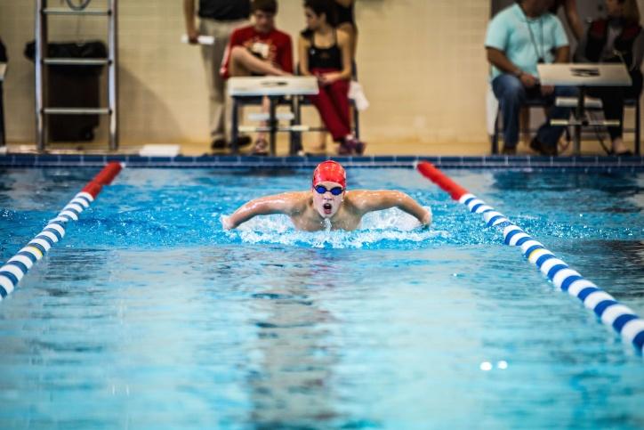 плуване басейн, водни, спортни, упражняване, забавно, очила, лице, спорт
