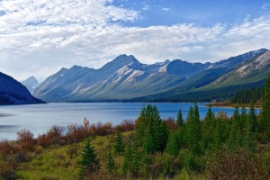 nature, water, calm, lake, landscape, mountain