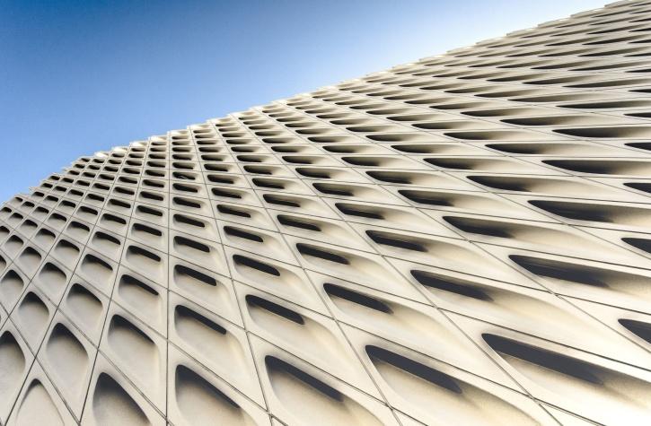 arkitektur, byggnad, modern, blå, sky