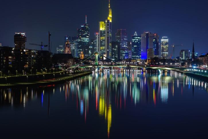 tour, urbain, rivière, architecture, pont, bâtiments, affaires, ville