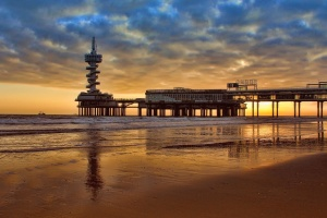 sand, sea, seascape, shore, beach, ocean, overcast, reflection