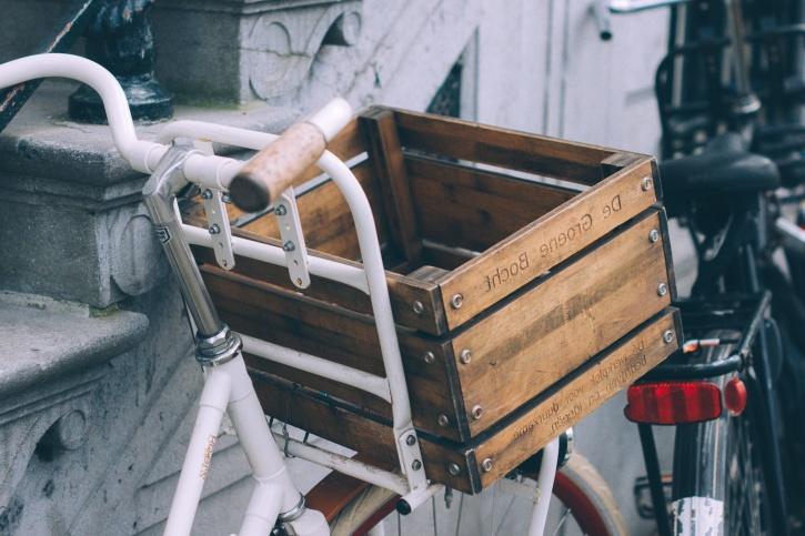 vélo, boîte, caisse, panier