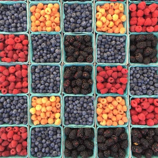 マルベリー、ラズベリー、果実、ブルーベリー、ボックス、食品