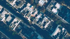 byen, moderne, street, tårn, byen