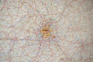 kapital, city, retninger, vejledning, rejse, beliggenhed, kort, navigation
