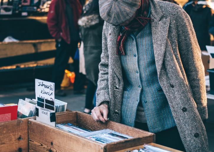 homme, marché, bibliothèque, livres, librairie, boutique, bois
