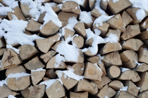 wood, firewood, cold, hardwood, icy, lumber
