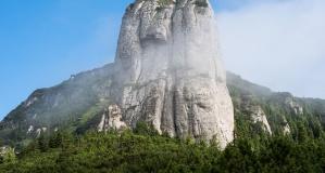 montagne, nature, rocher, brouillard, paysage
