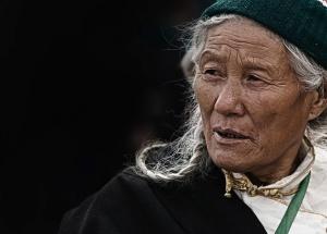gammal kvinna, äldre, farmor, ansiktet, Mormor, gammal, porträtt