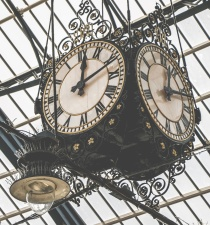 analog clock, retro, time, clock, hanging