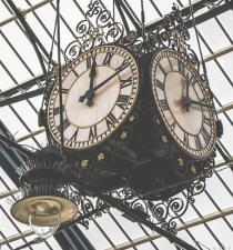 Analogni sat, retro, vrijeme, sat, visi