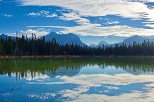 nature, reflection, lake, landscape, mountain, tree, water