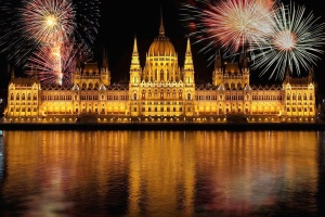 celebration, festival, fireworks, landmark, lights, architecture, night