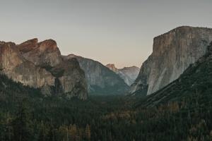 roche, montagnes, ciel, arbre, vallée, forêt, falaise, conifère