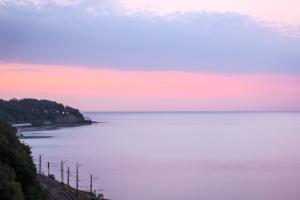 dusk, ocean, sky, beach, coast