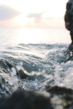 vode, valova, zima, plaža, otok, krajolik, oceana, rock