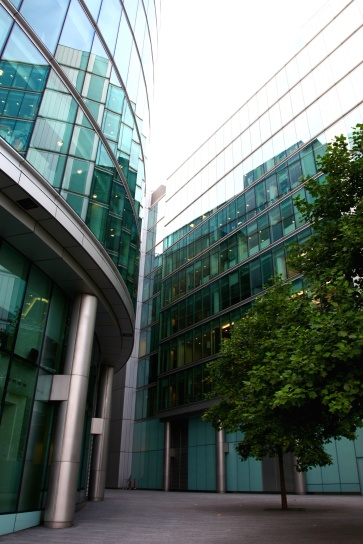 budovy, sklo, perspektívy, architektúra