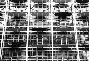 budovanie, moderný, dizajn, sklo, architektúra
