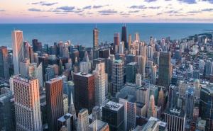 ville, architecture, bâtiments, crépuscule, urbain