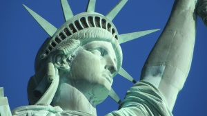 lady, liberty, statue, art, monument