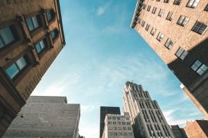 cidade, prédios, arquitetura, concreto, urbano