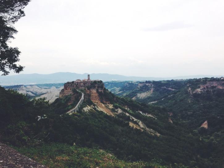 landscape, mountain, sky, tree, building