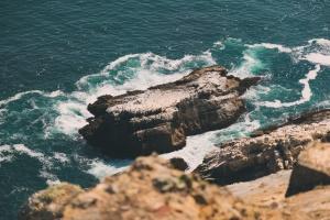 sea, water, coast, nature, rock