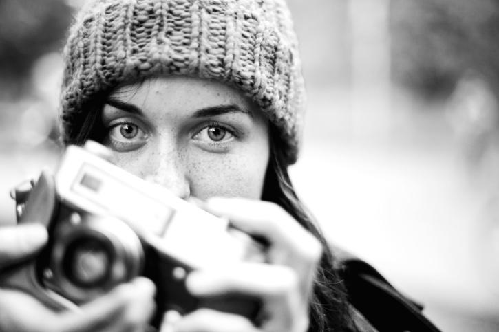 photographer, photo camera, face, fashion, girl, hands, hobby, lifestyle, model, objective