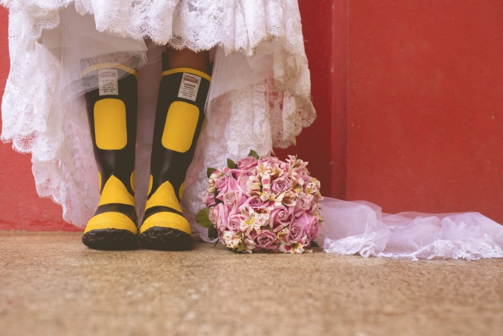 shoes, flowers, marriage, traditional, wedding, boots, dress, woman
