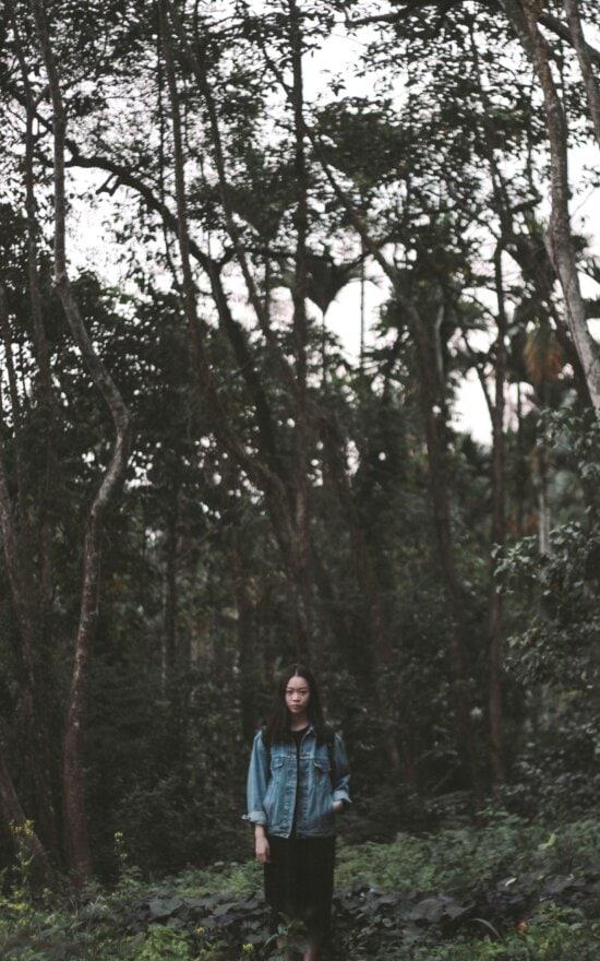 jungle, woman, nature, tree, fashion, forest