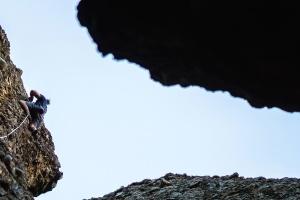 fjellet, rock, himmelen, klatre, klatrer