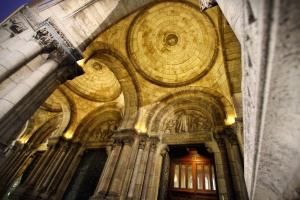 cathedral, ceiling, dome, arches, architecture, building