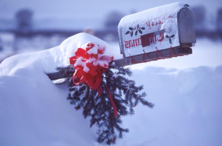 mailbox, celebration, cold, frost, ice