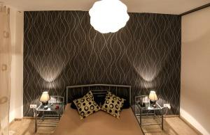 αρχιτεκτονική, κρεβάτι, υπνοδωμάτιο, διαμέρισμα, άνεση, κουρτίνα, διακόσμηση, έπιπλα