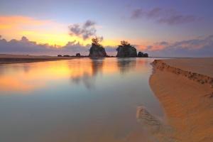 l'eau, plage, calme, île, mer, sable
