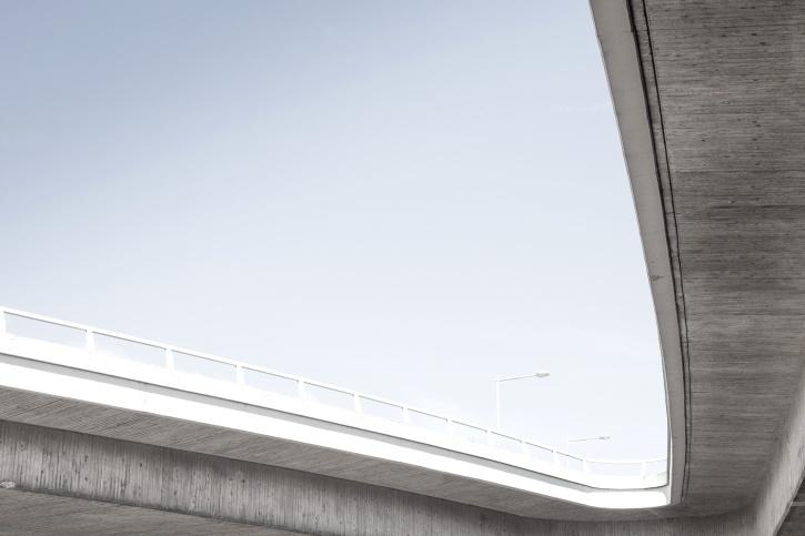 autostrada, fier, drumul, podul, city, beton