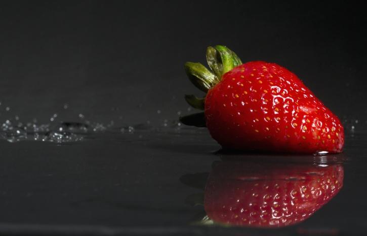 Nahrungsmittel, frische, Frucht, saftig, Erdbeere, süß