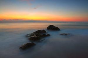 dusk, fog, cloud, nature, rock, sky