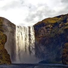 река, скали, вода, водопади, каскада, пейзаж, природа