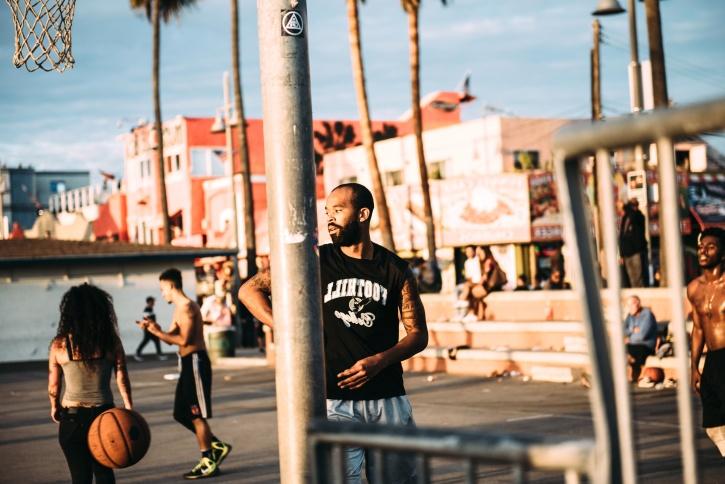 บาสเกตบอล ความสุข สนุก เกม คน คน ถนน